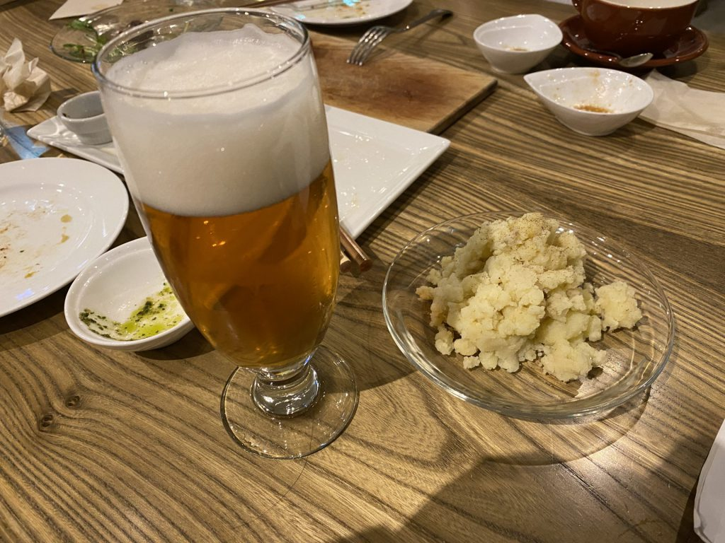 帯広 ヌプカ サ飯 クラフトビール サ酒 アンチョビポテトサラダ